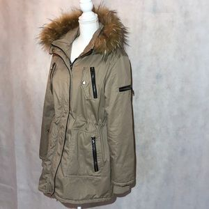 Steve Madden Hooded Winter Coat Size Large